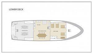 San Jose Yacht - Lower Deck Plan