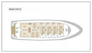 San Jose Yacht - Main Deck Plan