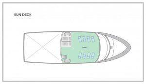San Jose Galapagos Yacht - Sun Deck Plan