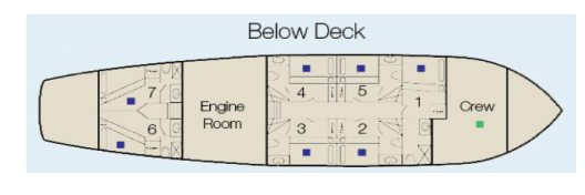 Cachalote Galapagos Yacht - Lower Deck Plan