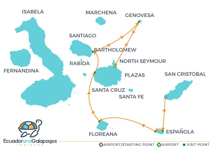 Itinerary Hood - Southern Islands