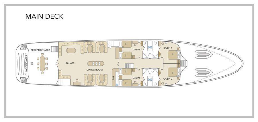 Galapagos Odyssey Yacht - Main Deck Plan