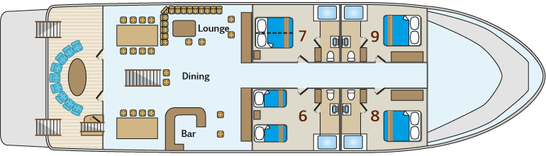 Majestic Motor Boat - Main Deck Plan