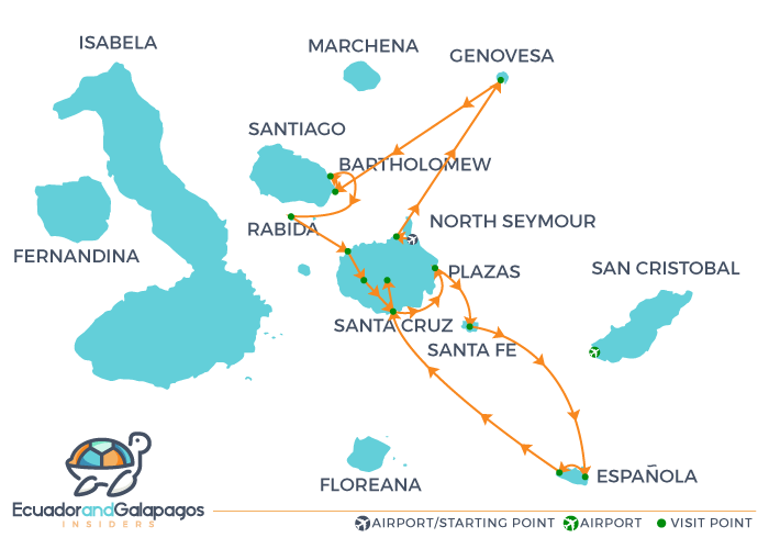 Itinerary East - North & East Islands