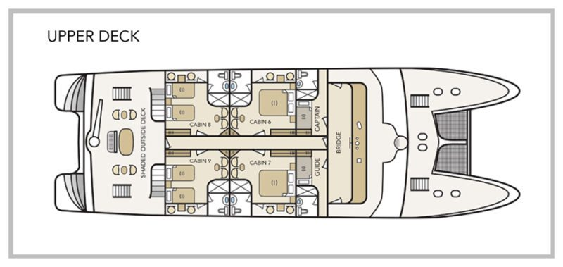 Treasure of Galapagos Yacht - Upper Deck Plan