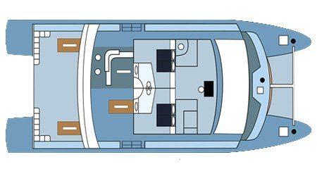 Seaman Catamaran - Upper Deck Plan