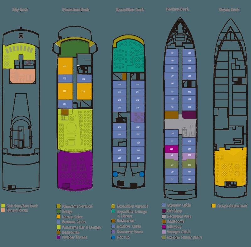 Santa Cruz II Cruise - Santa Cruz II Deck Plan