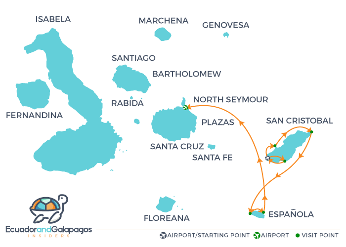 Itinerary A4 - Southern Islands