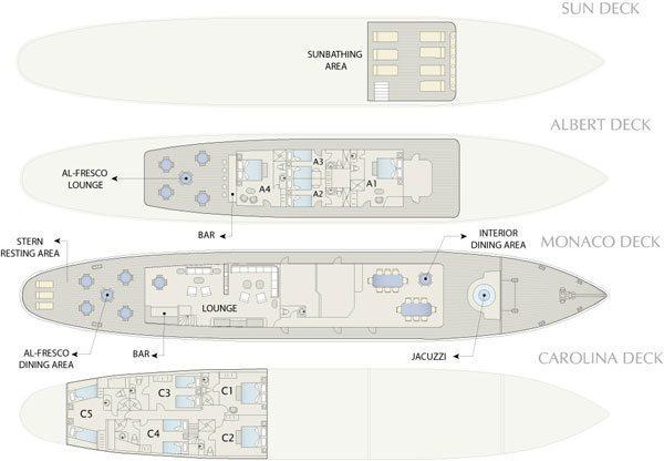Grace Galapagos Sailboat - Grace Deck Plan