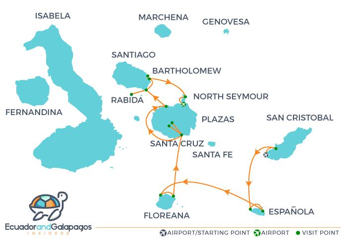 Itinerary beyond Darwin's Footsteps - Eastern Islands