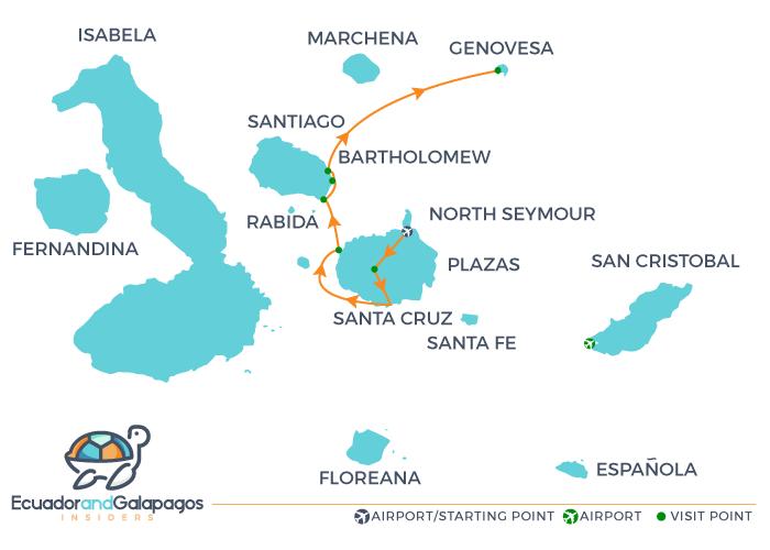 La Pinta Cruise Ship - Itinerary Northern Islands