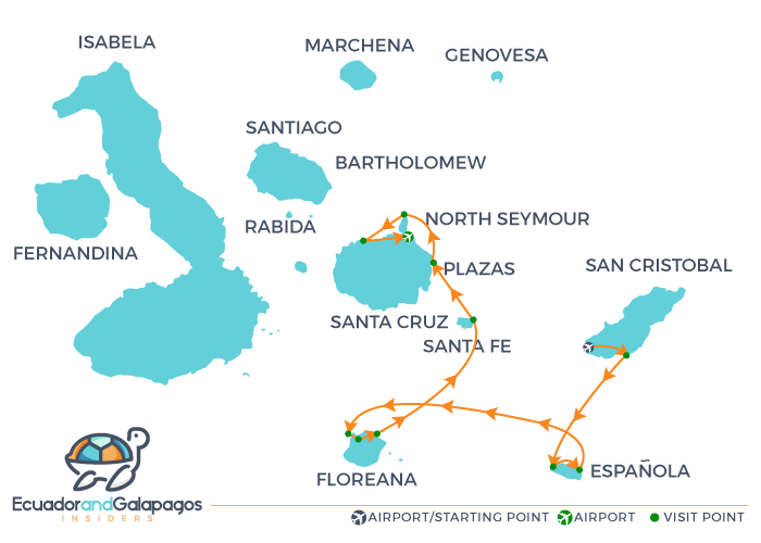 Itinerary A - Southern Islands