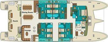 Alia Galapagos - Main Deck Plan