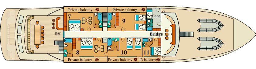 Infinity Galapagos  - Upper Deck Plan