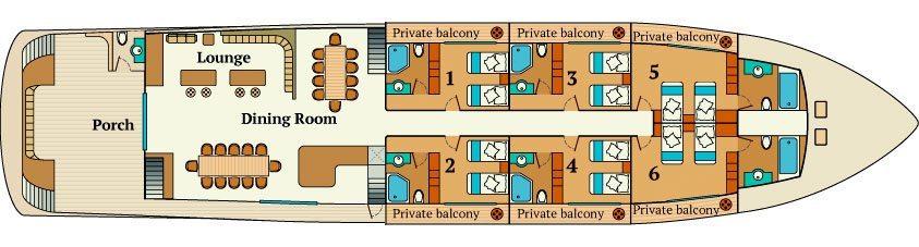 Infinity Galapagos - Main Deck Plan