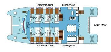 Anahi Galapagos Yacht - Main Deck Plan