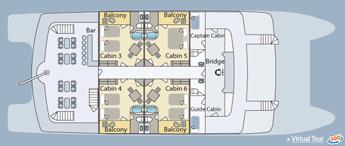 Cormorant Galapagos Yacht Upper Deck Plan