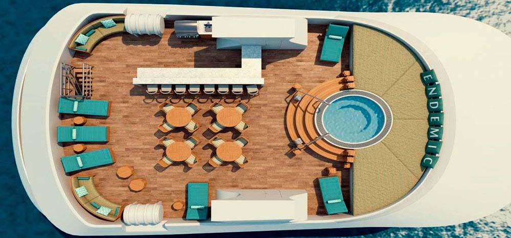 Endemic Galapagos Yacht Sky Deck Plan