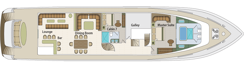 Grand Majestic Motor Boat - Main Deck Plan