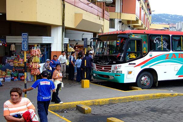 Public buses Ecuador