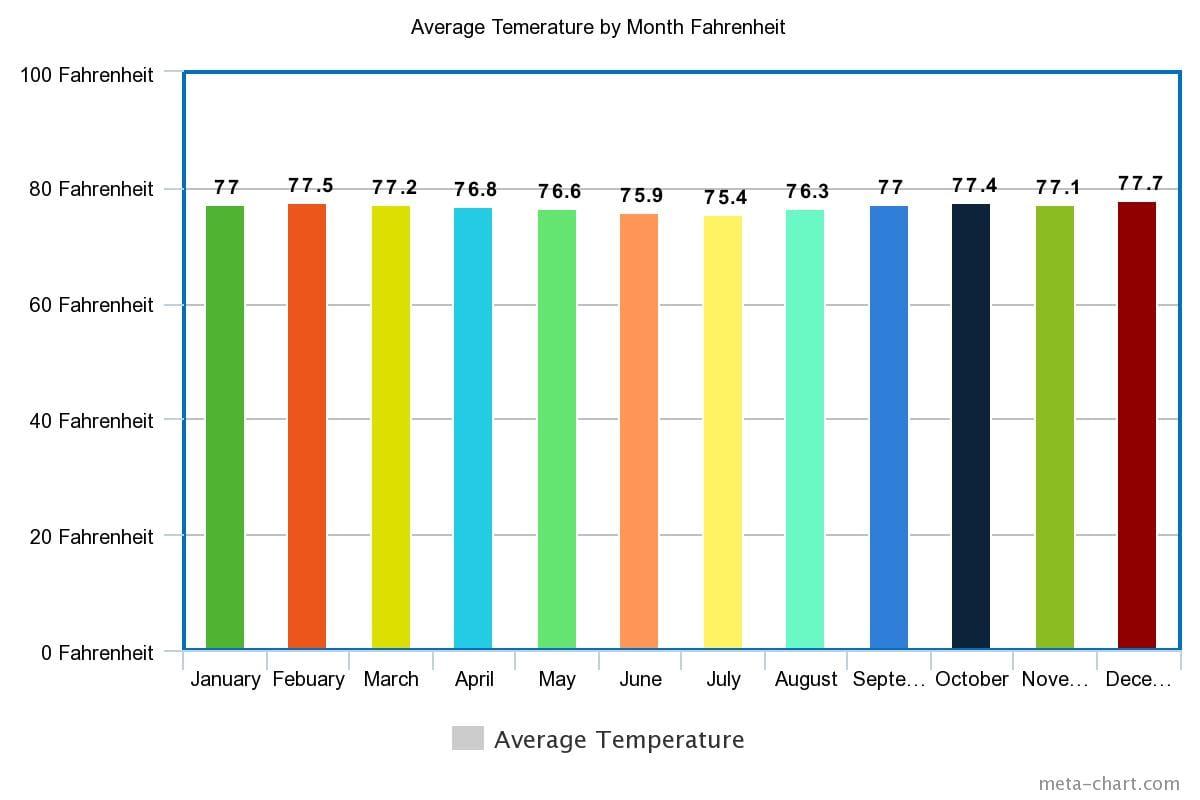 Amazon Rainforest Temperatures Farenheit