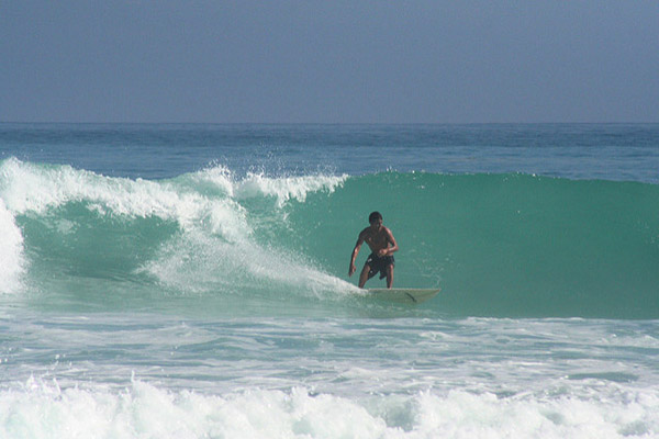 Surfing in the Galapagos Islands