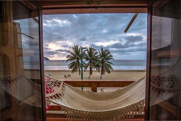 Accommodation in Puerto Lopez beach, Ecuador