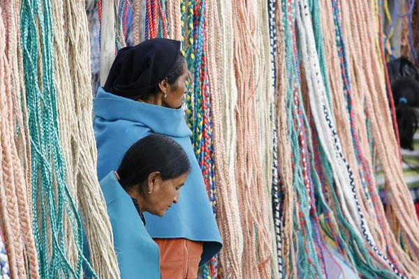 Handcrafts in Otavalo