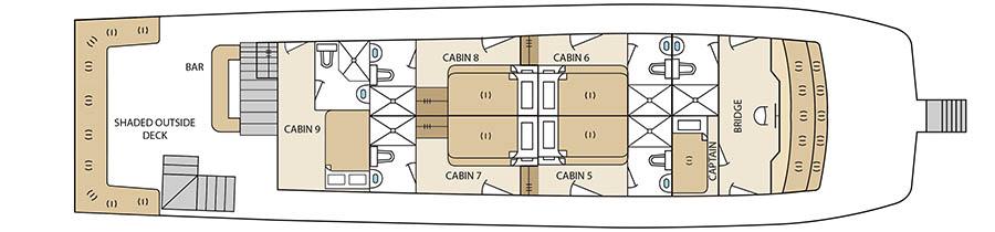 Aqua Yacht Upper Deck