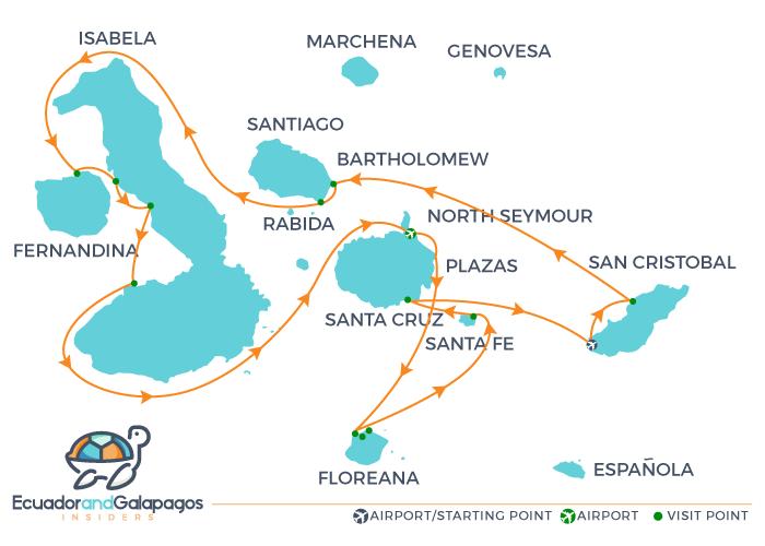 Galapagos Cruise Itinerary