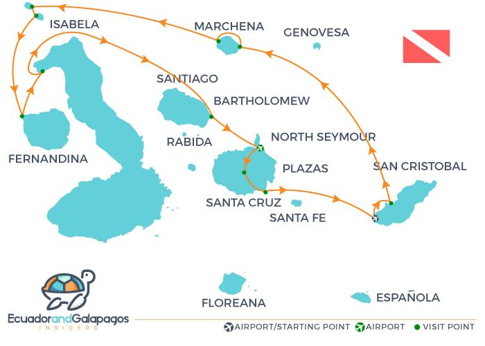 Galapagos Diving Cruise Tour