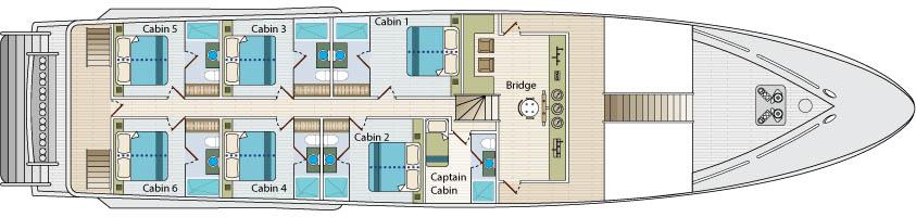 Calipso Yacht Upper Deck