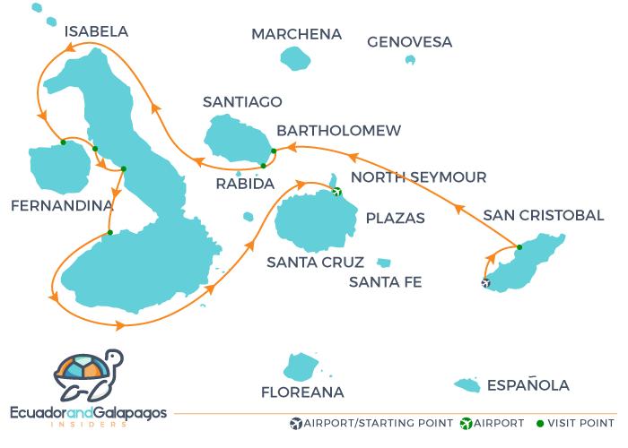 Calipso Galapagos Cruise 5 days tour