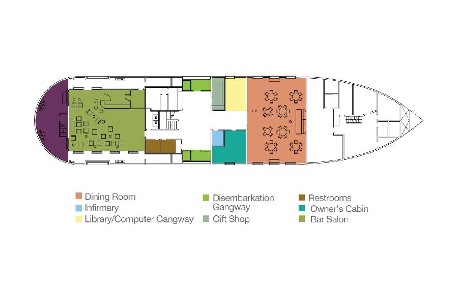 Isabela II Galapagos Yacht - Main Deck Plan