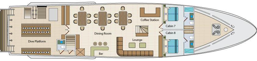 Calipso Main Deck
