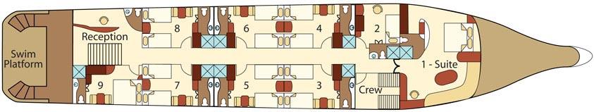 Integrity Galapagos Boat - Main Deck Plan