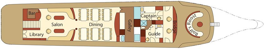 Integriy Galapagos boat - Low Deck Plan