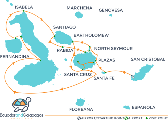 Itinerary A - Western and eastern Islands