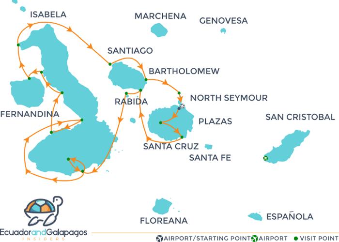 Itinerary Fernandina - Western Islands
